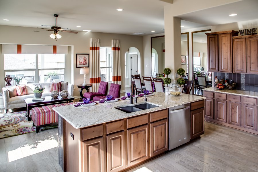 Purple interior design at Star Ranch in Hutto, Texas