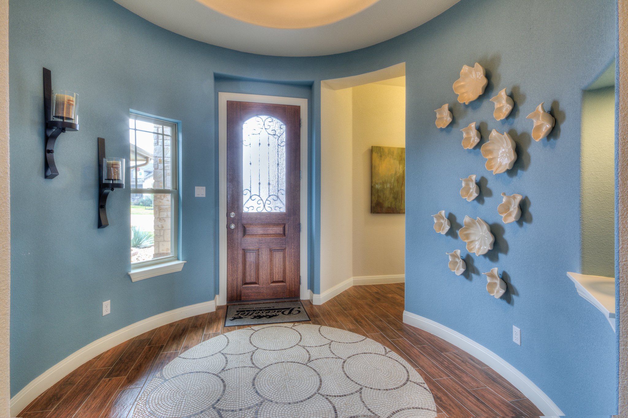 Model home entry in Austin, TX by Michelle Thomas Design