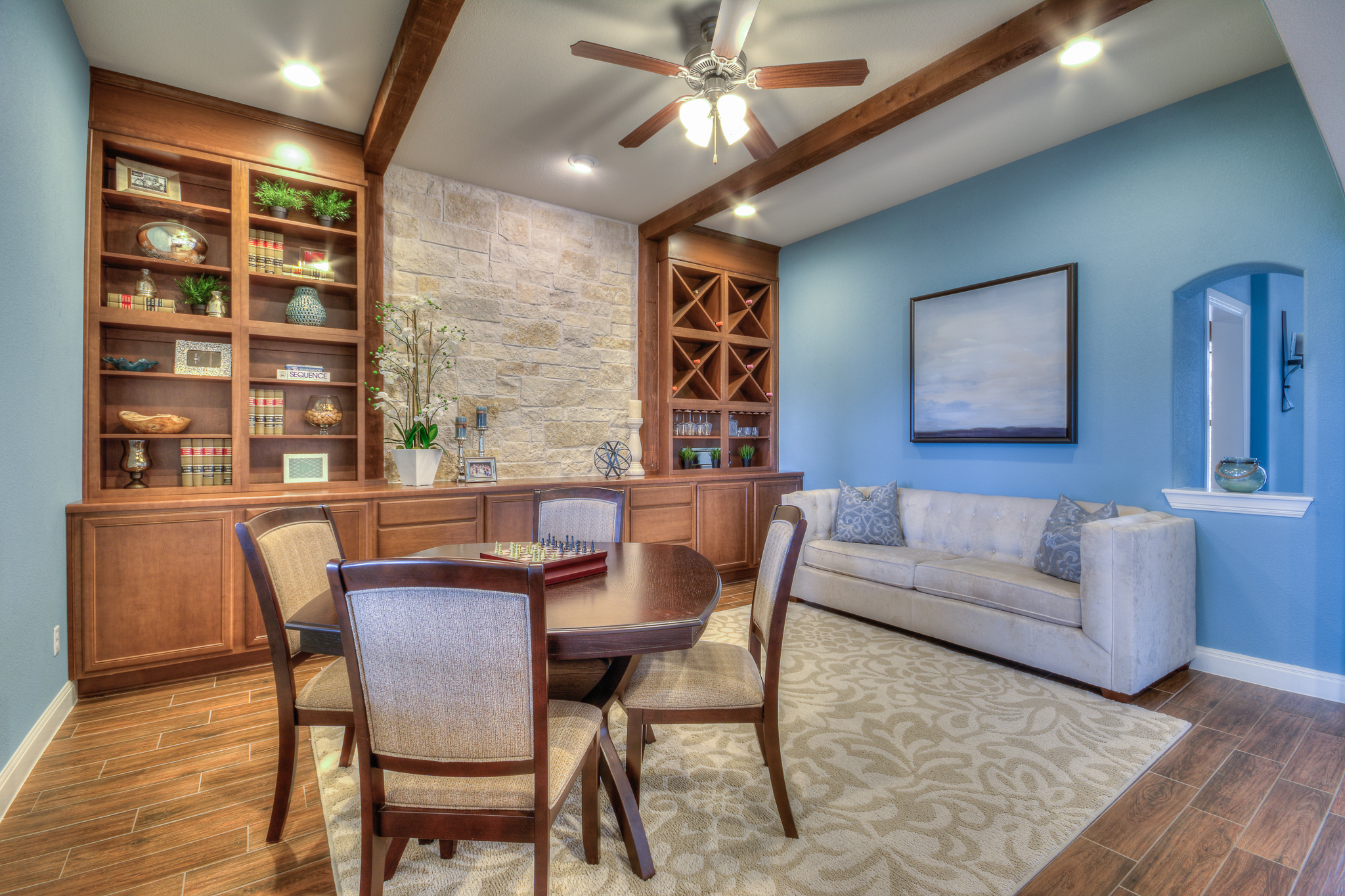 Professional model home study design by Michelle Thomas Design in Austin, TX