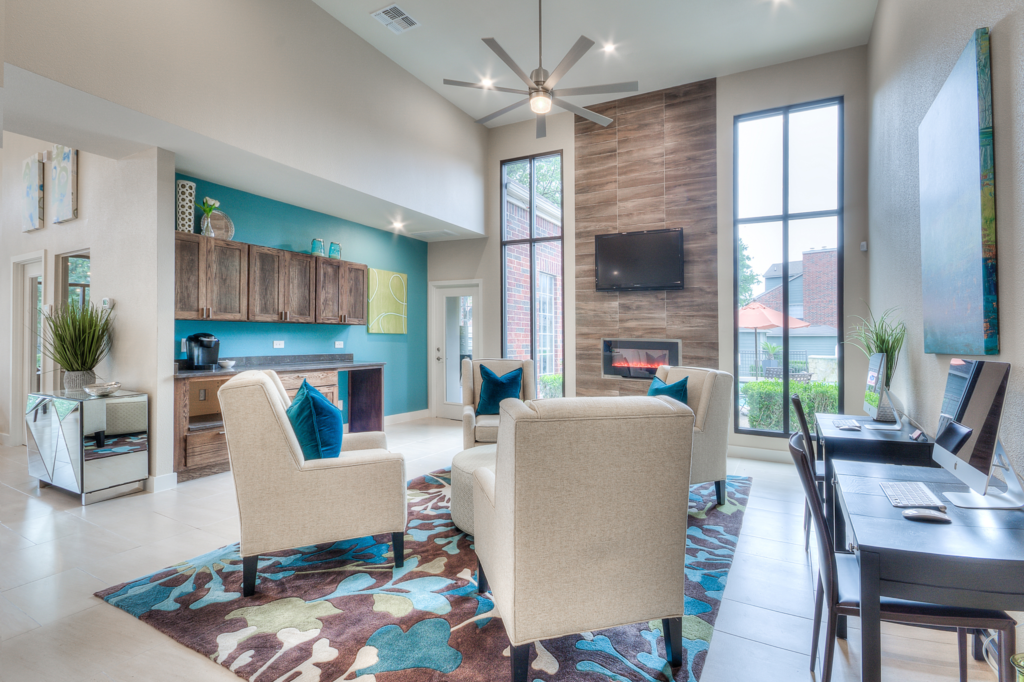 Lobby designed from professional interior designers in Austin, Texas