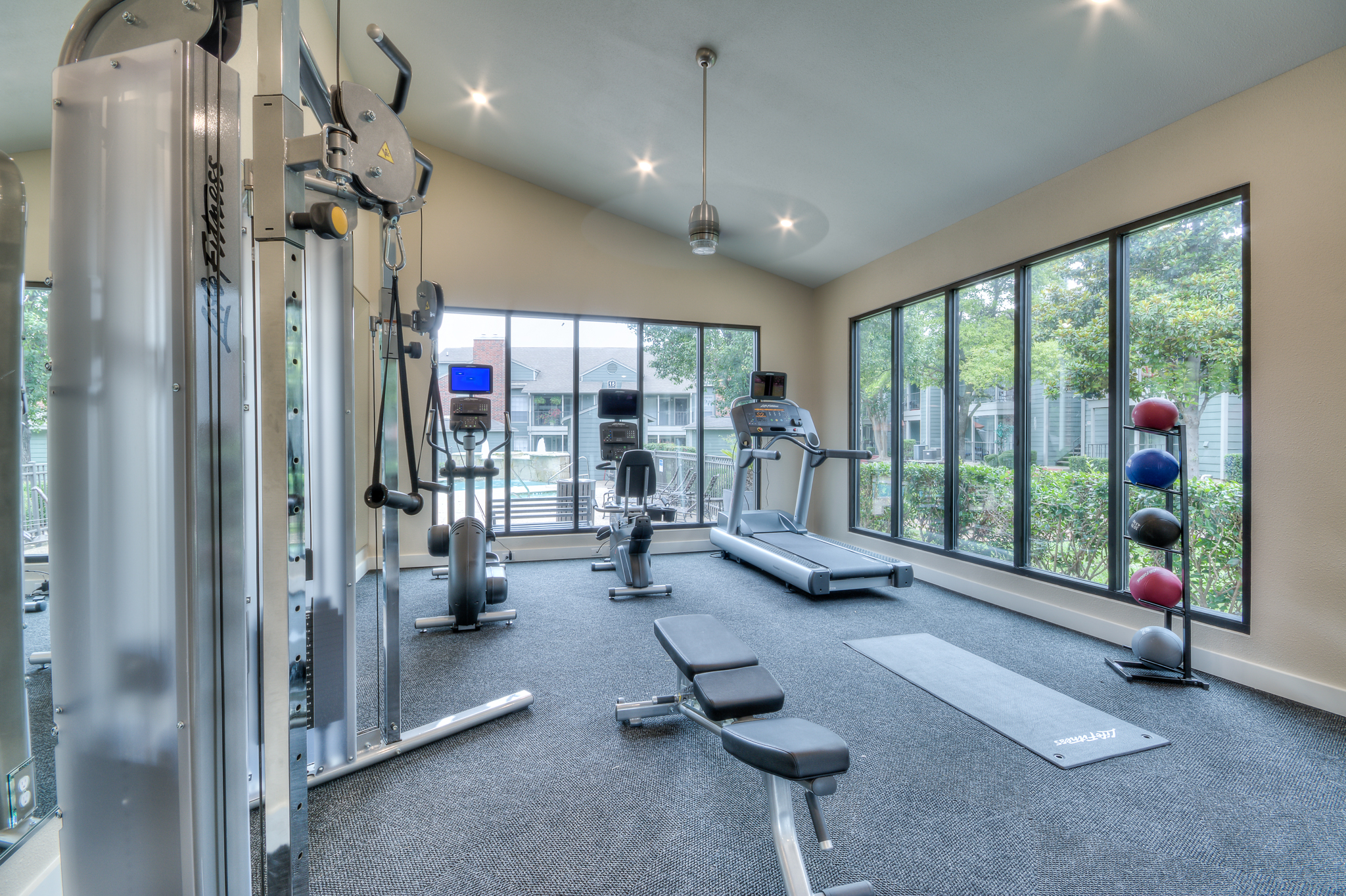 Fitness center design for Bradford Point apartments in Austin, TX