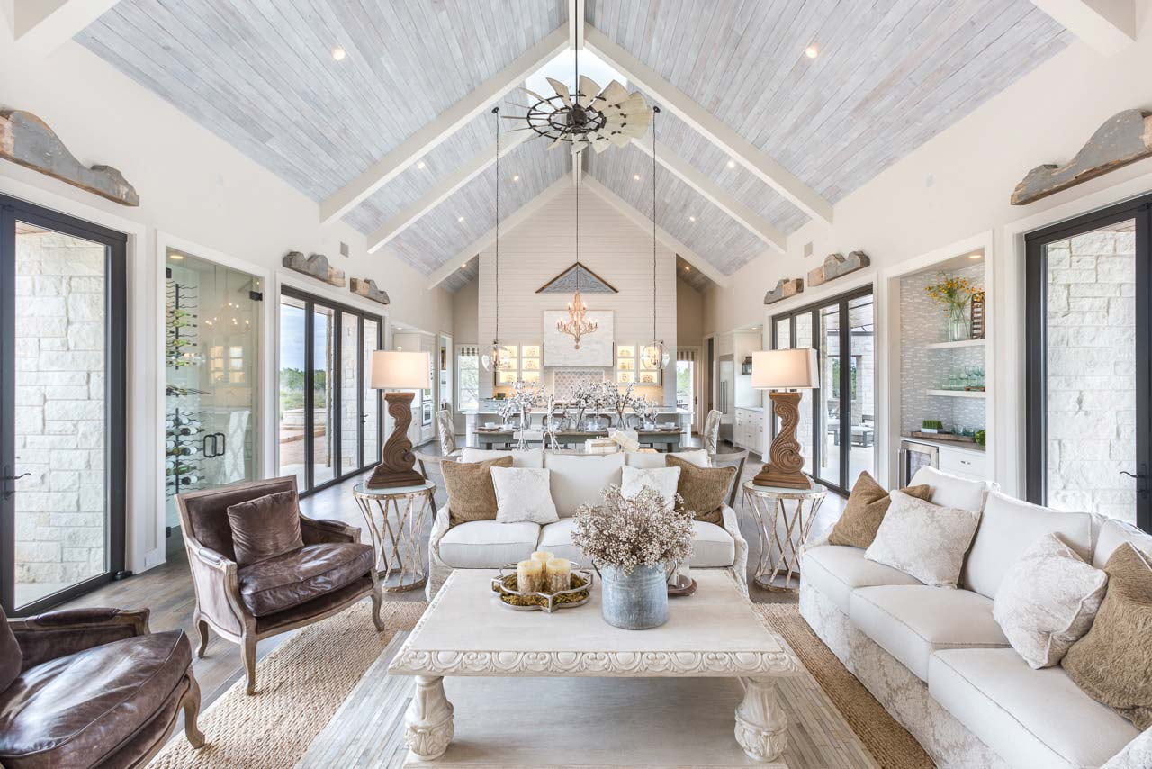 Light, airy interior design for open concept home at Austin Parade of Homes in Texas