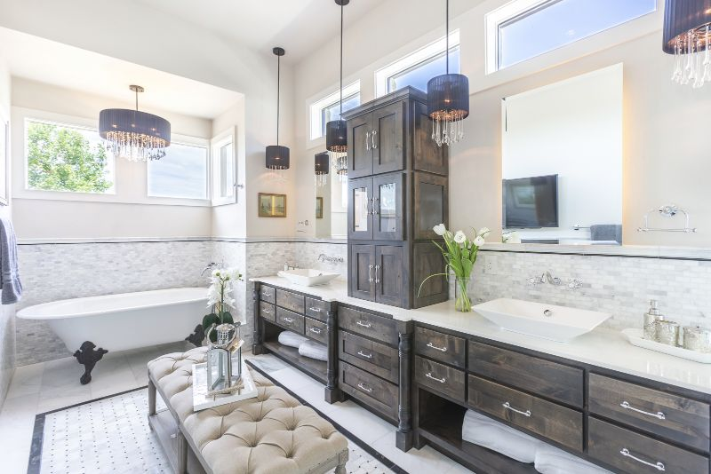 Master bathroom design for Austin Parade of Homes 2017