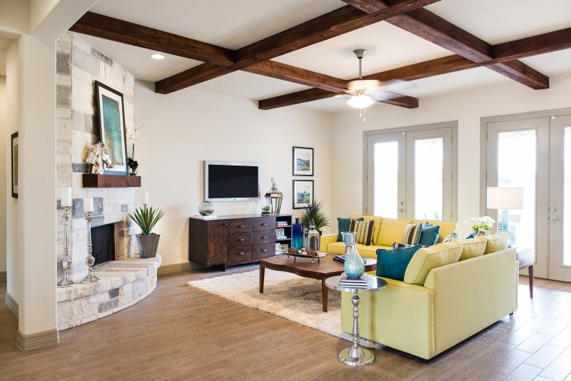 Living Room in Liberty Hill, TX styled by interior design firm Michelle Thomas Design