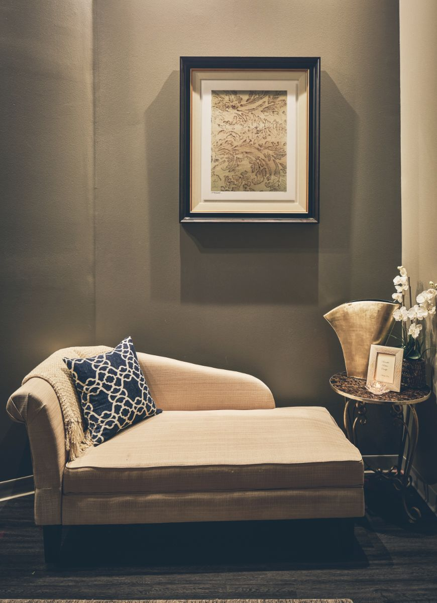 Chaise lounge chair at Massage Sway in Austin, Texas