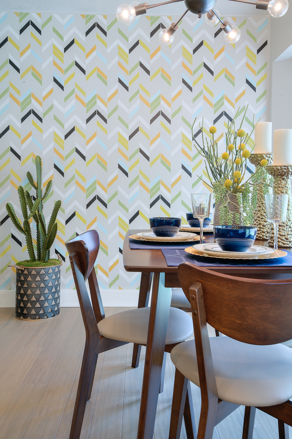 Professionally decorated dining room in Austin, Texas