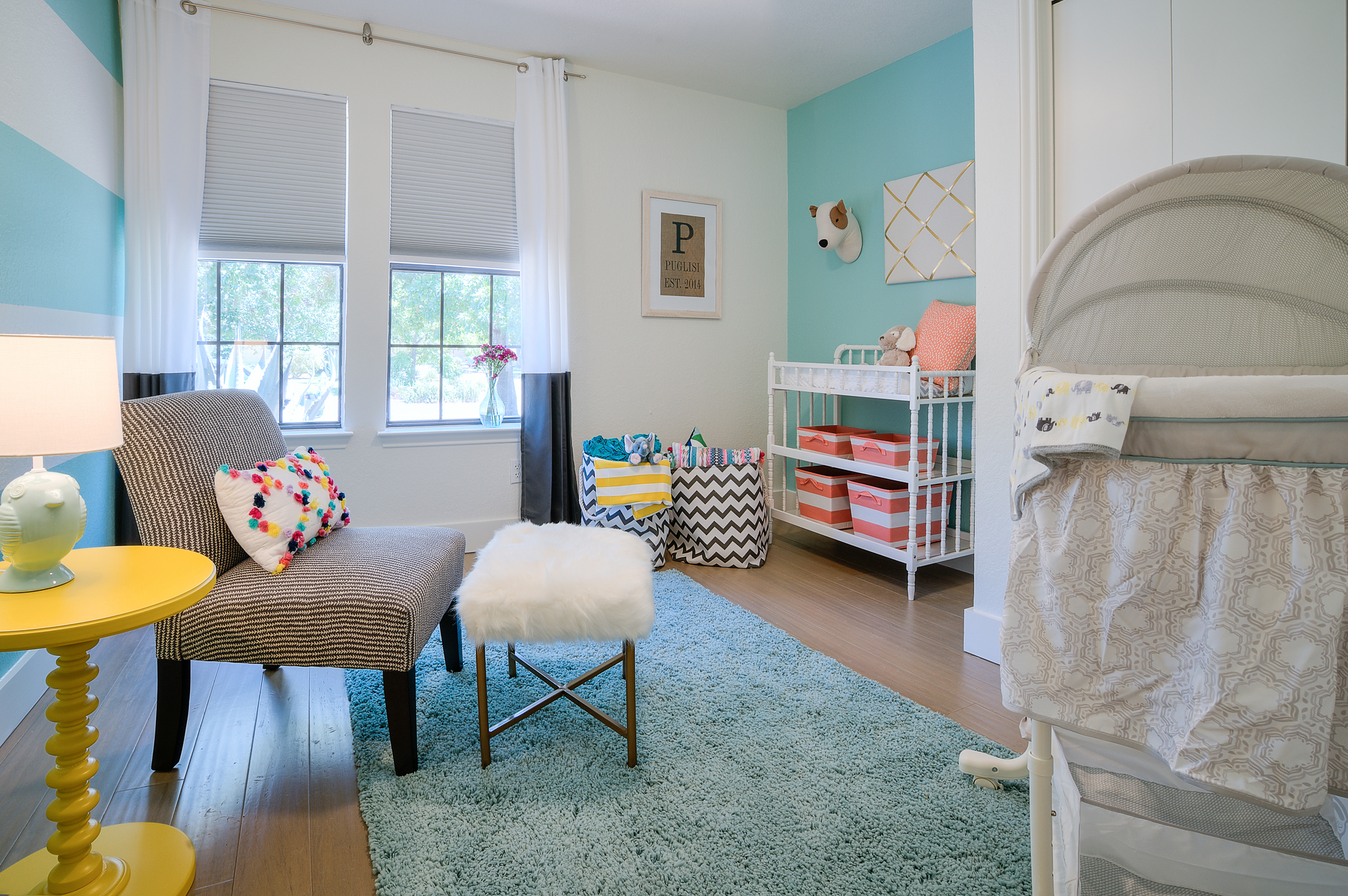 Colorful nursery interior design in Austin, Texas by Michelle Thomas
