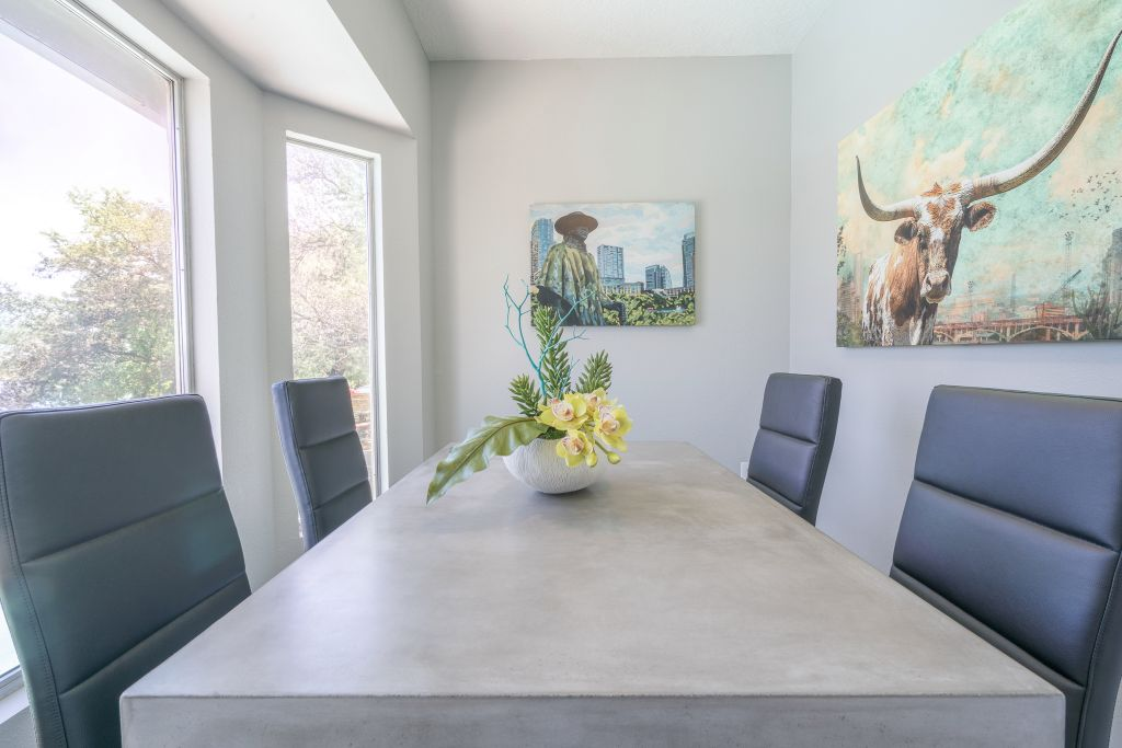 Conference room interior design for Breakers on the Lake rentals in Austin, TX