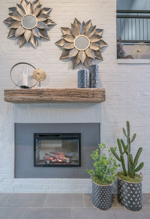 Austin, Texas fireplace design for The Falls on Bull Creek Apartments